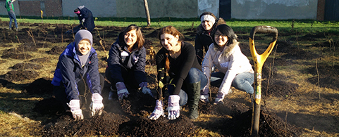 Scholars do their bit to make London a greener place