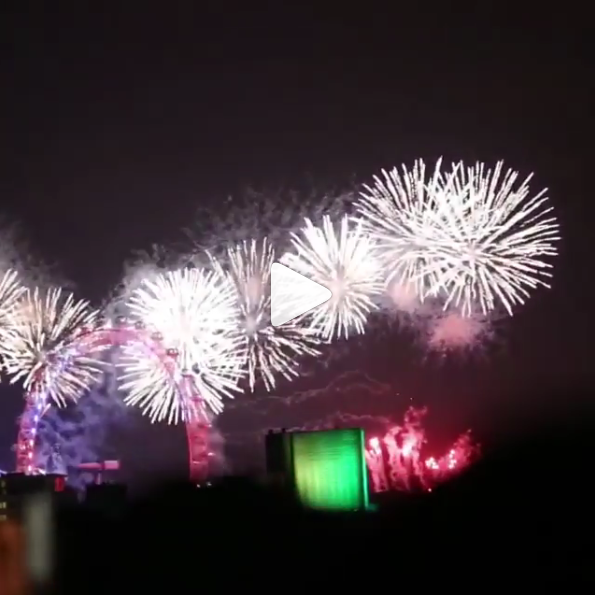Abdulla captures New Year's Eve fireworks in London