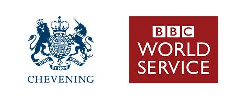 Chevening and BBC World Service logo