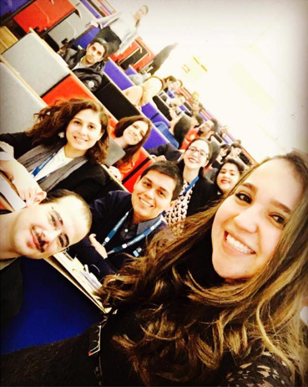 Camila Pantoja attends Chevening lecture
