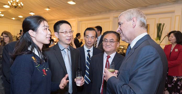 Alumni in China celebrate 35 years of Chevening with HRH The Duke of York, KG