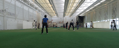 Batting and bowling on show as scholars learn to play cricket