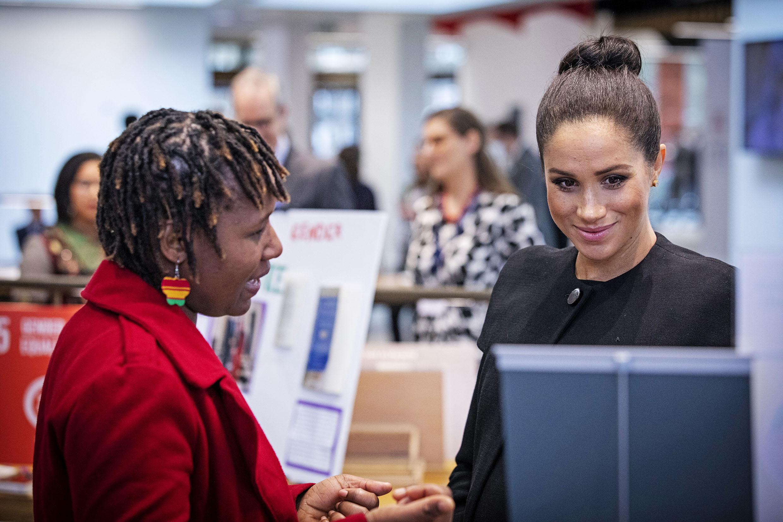 Duchess of Sussex in conversation with Mayamiko Chibowa