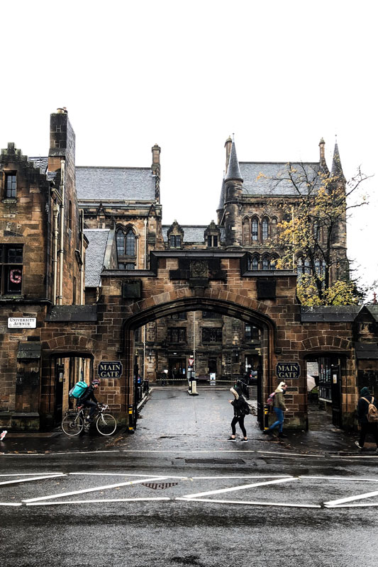 Main gate, University of Glasgow