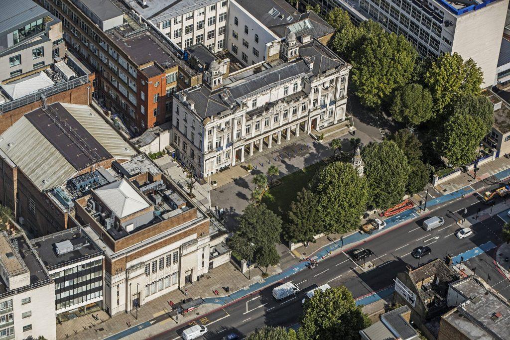 Aerial photo of QMUL