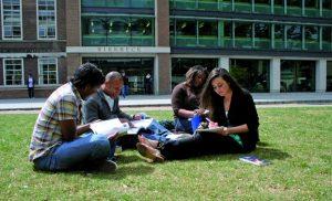 Birkbeck students studying