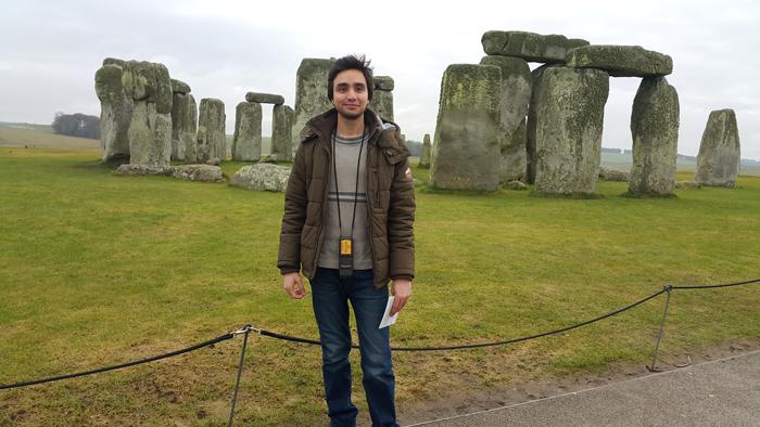 Asim at Stonhenge