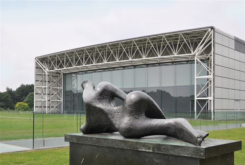 Henry Moore sculpture at the Sainsbury Centre for Visual Arts