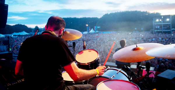 The time I played drums on stage at a festival with the Killers