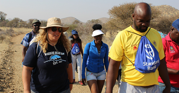 Namibian Alumni Bring Future Cheveners on a Hike