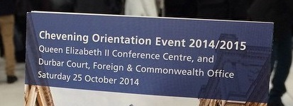 Chevening gives warm welcome to 2014/2015 scholars during this year's orientation event