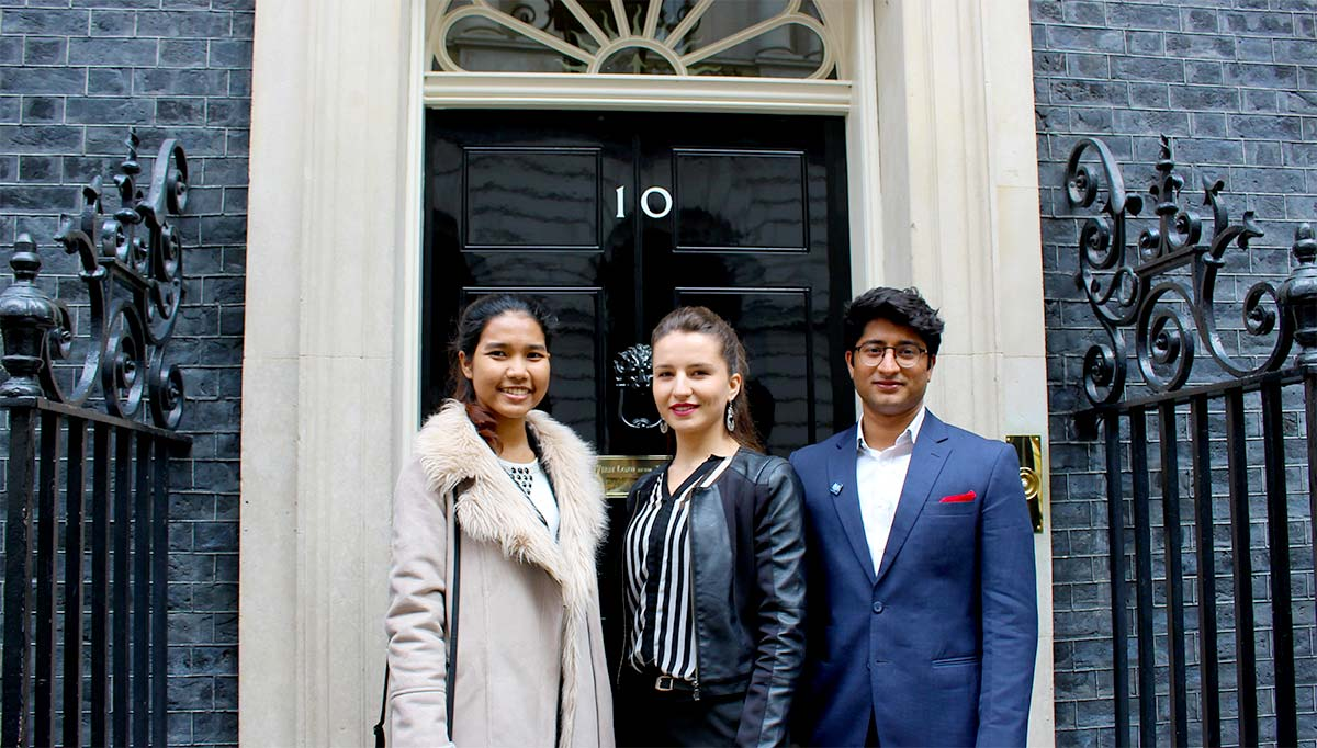 Scholars at Number 10 Downing Street