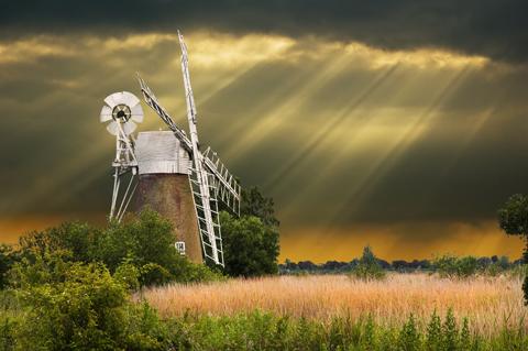 Windmill in the Norfolk Broads