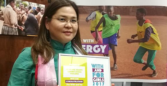 Alumna leads the way against gender-based violence