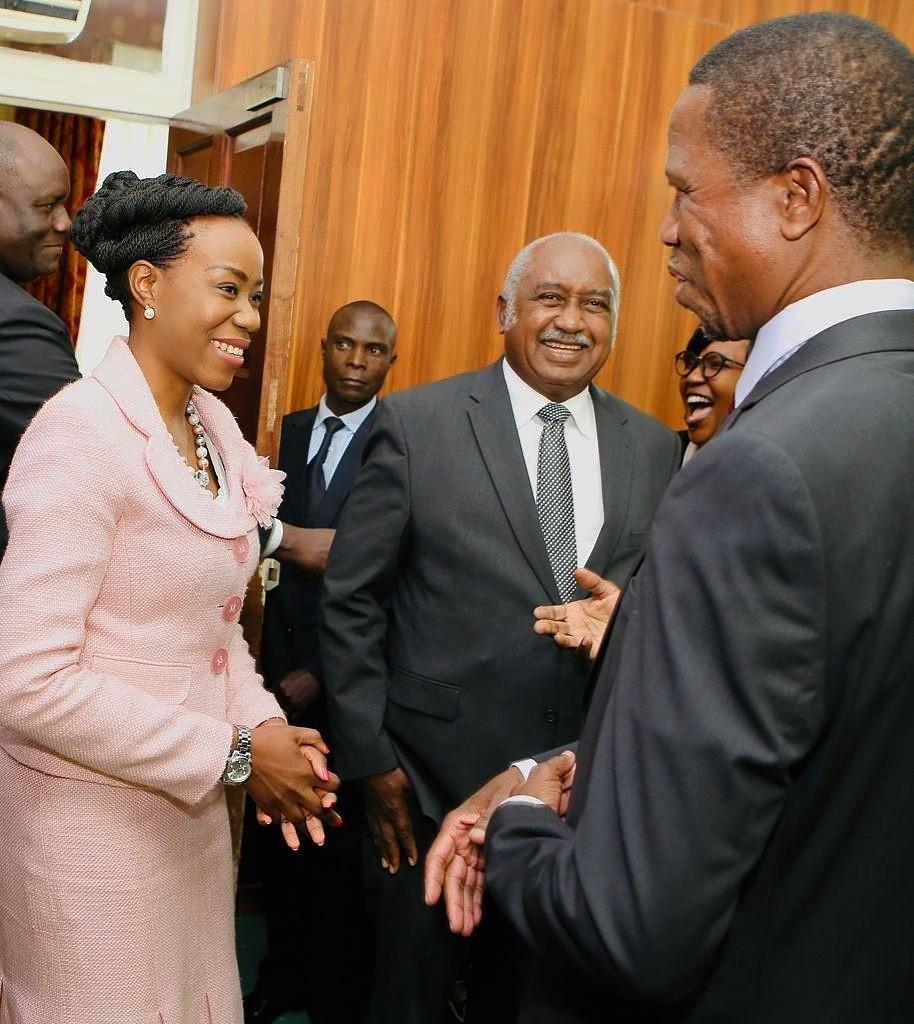 Patricia Luhanga meeting high level officials