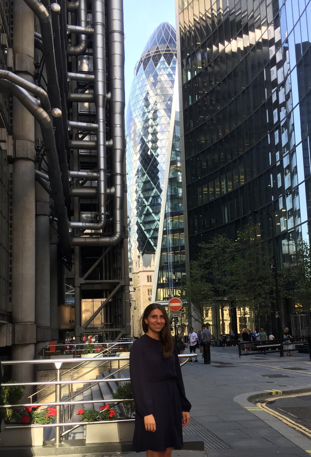 Lili Dopidze in the City of London
