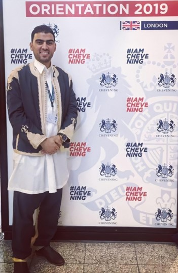 Scholar Omar Elarbi at Chevening Orientation