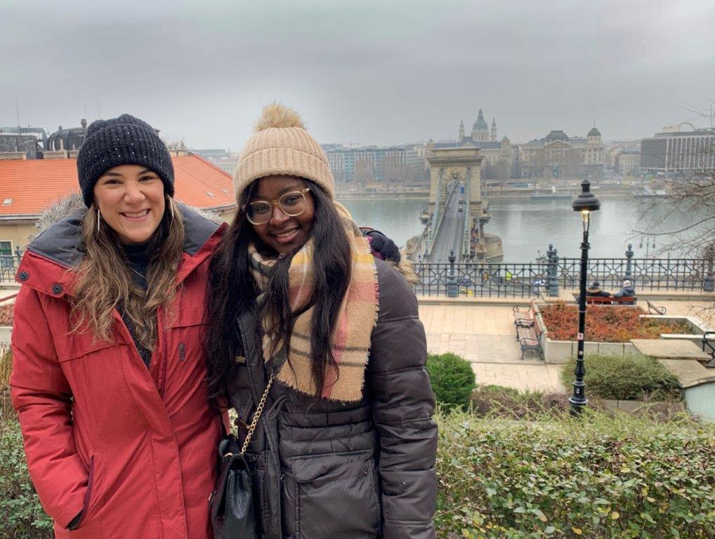 Marina and her friend Alukeny
