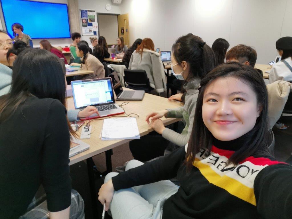Suet attends a creative coding class at university